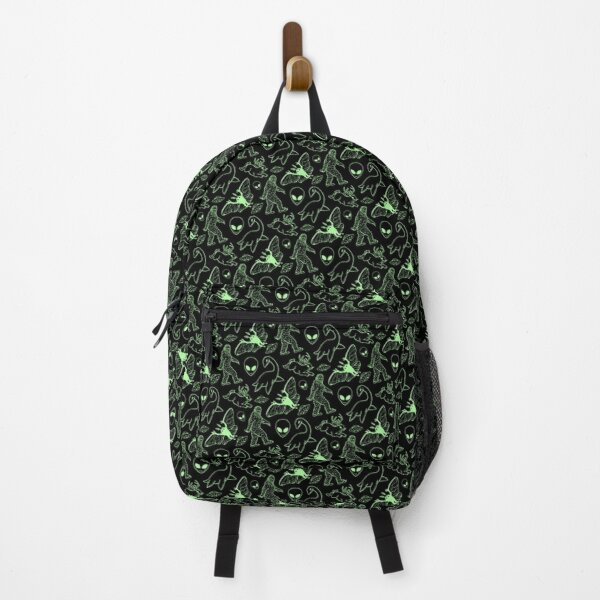 Cryptid Pattern (Green Lines) Backpack