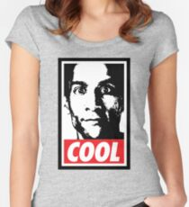 OBEY ABED, COOL? (variant) Women's Fitted Scoop T-Shirt
