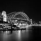 Sydney Harbour Bridge at Vivid by Philip Mack