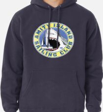Amity Island Sailing Club (White border) Pullover Hoodie