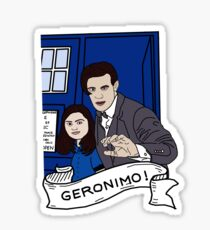 the doctor and clara Sticker