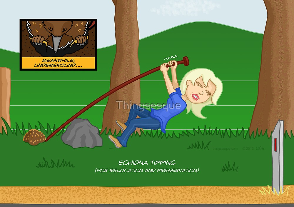 Echidna Tipping (for relocation & preservation) by Thingsesque