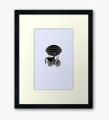 Airship Cyclist VRS2 Framed Print