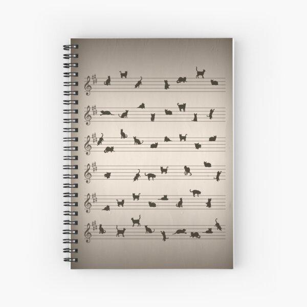 Cat Song Music  Spiral Notebook