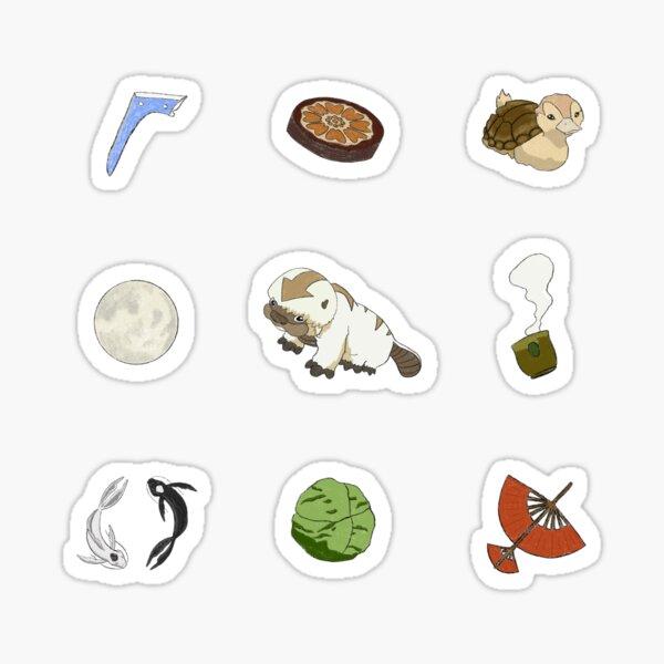 Avatar (ATLA) Sticker Set / Sticker Pack - Textured Drawing Sticker
