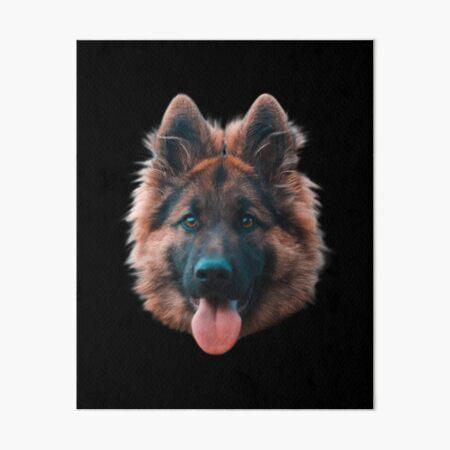 Happy German Shepherd Art Board Print