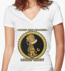 Lonely Robot: Tinkering Thinker Women's Fitted V-Neck T-Shirt