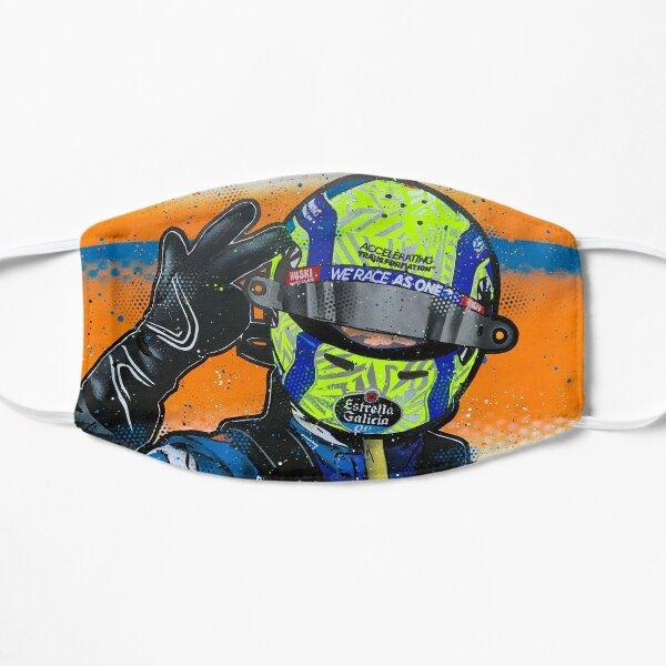 Lando Norris 2020 - McLaren graffiti painting by DRAutoArt Flat Mask