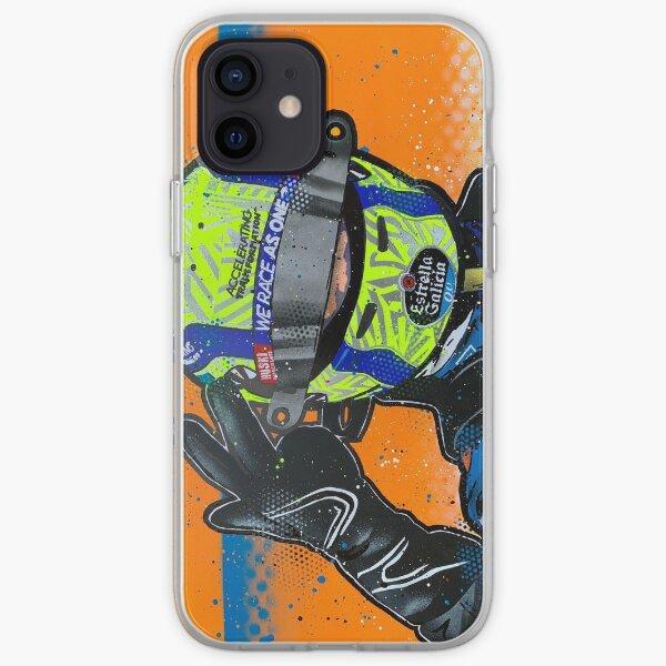 Lando Norris 2020 - McLaren graffiti painting by DRAutoArt iPhone Soft Case