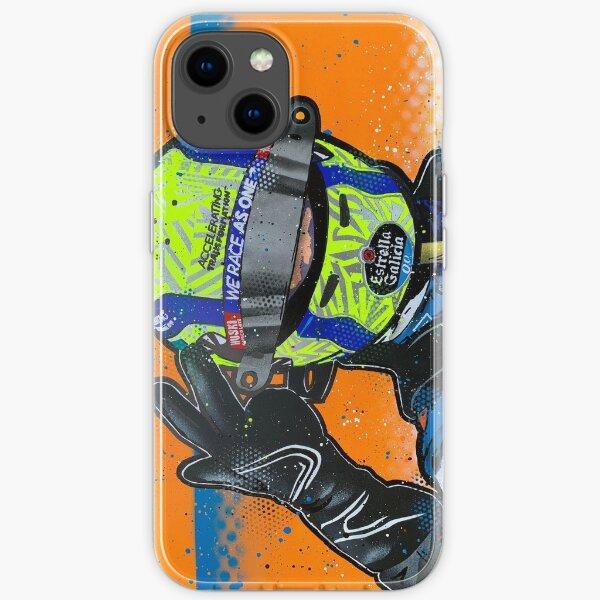 Lando Norris 2020 - McLaren-Graffiti-Gemälde von DRAutoArt iPhone Flexible Hülle