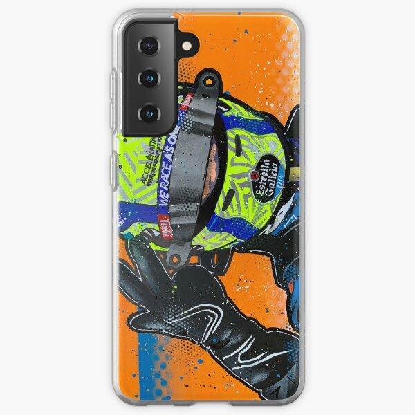 Lando Norris 2020 - McLaren graffiti painting by DRAutoArt Samsung Galaxy Soft Case