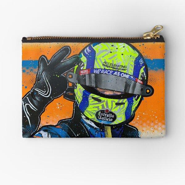 Lando Norris 2020 - McLaren graffiti painting by DRAutoArt Zipper Pouch