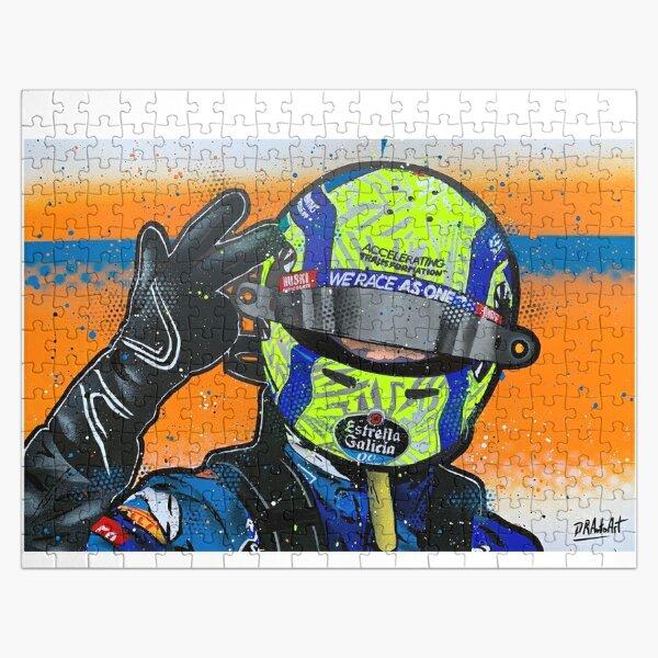 Lando Norris 2020 - McLaren graffiti painting by DRAutoArt Jigsaw Puzzle