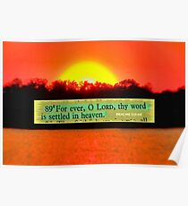 Forever, O Lord, thy word is settled in heaven Poster