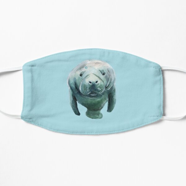 Save The Manatees! Stickers, shirts, phone cases and more! Flat Mask