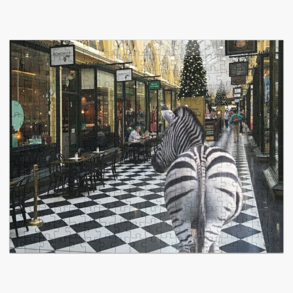 Zebra in the Royal Arcade Melbourne Jigsaw Puzzle