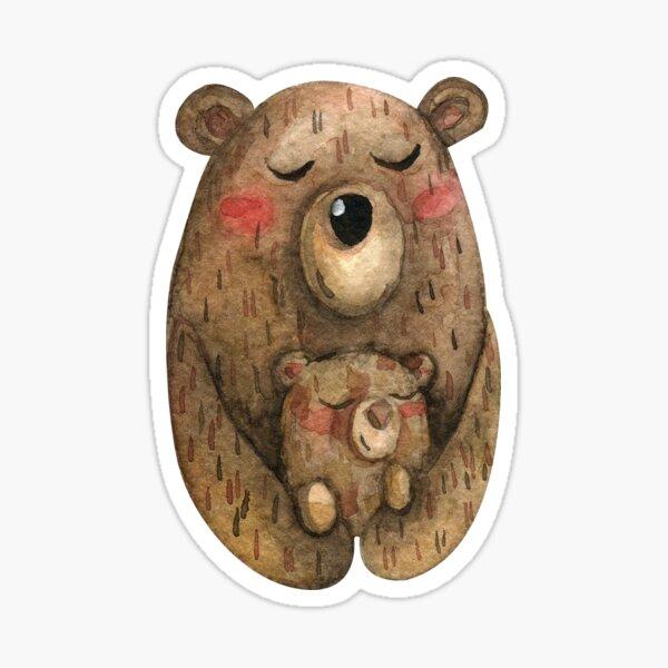 Mama Bear And Baby Bear Sticker