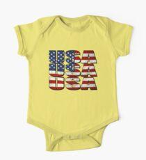 USA USA USA 4th July Kids Clothes