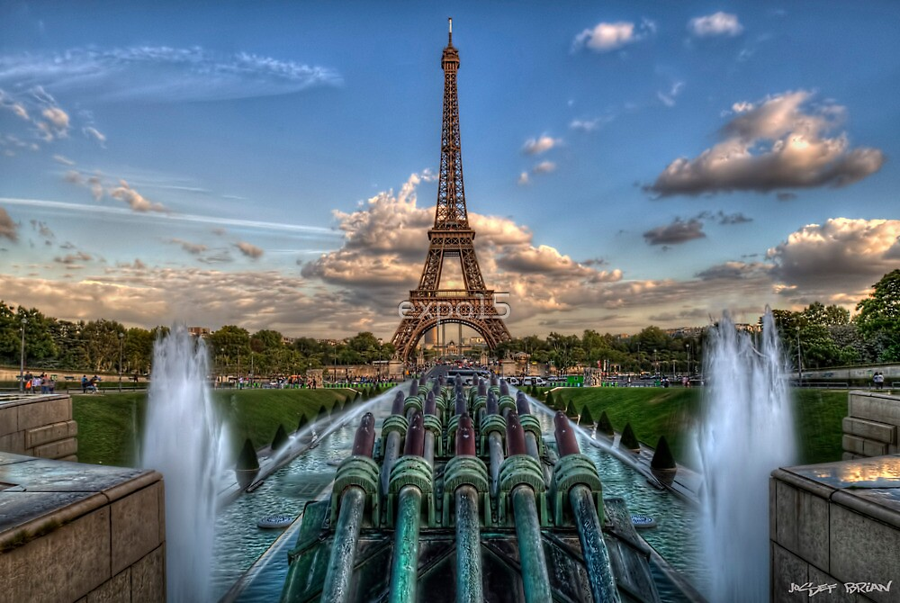 Eiffel Tower view from Trocadero by expo15