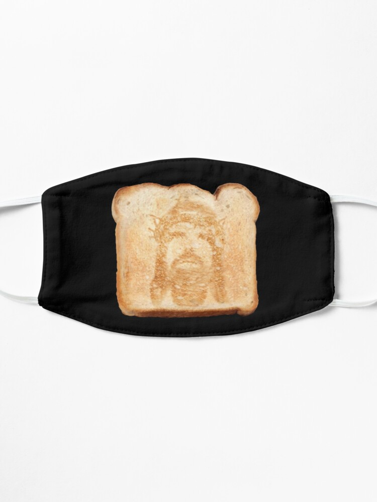 Alternate view of Jesus on toast Mask