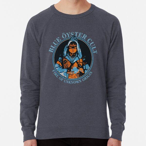 Blue Oyster Cult BOC Fire Of Unknown Origin Vintage Retro art Lightweight Sweatshirt