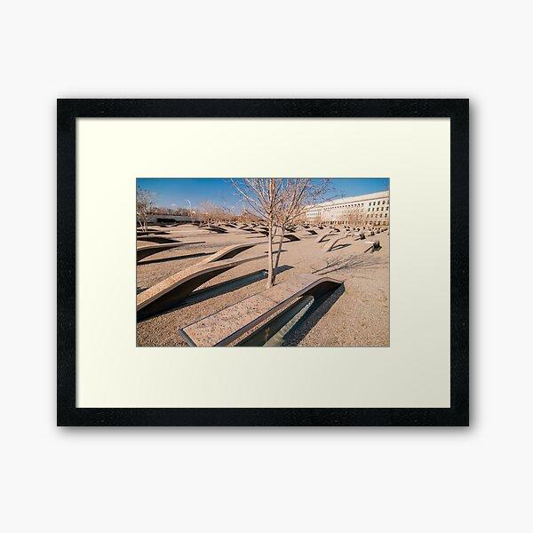pentagon memorial Framed Art Print