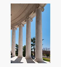 ionic architectural columns Photographic Print