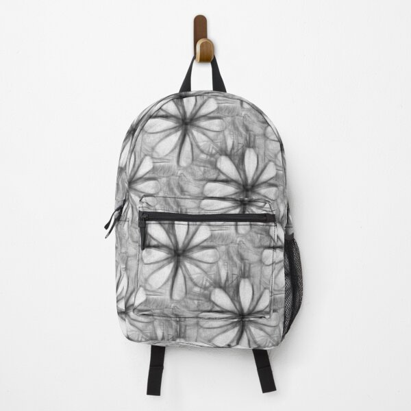 pencil drawing flower graphic art nature design plants Backpack