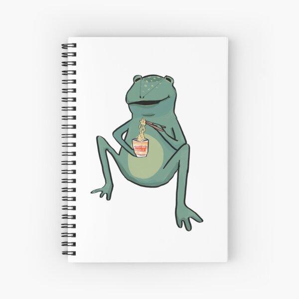 Frog eating Instant Noodles  Spiral Notebook