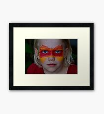 The Face of Fire Framed Print