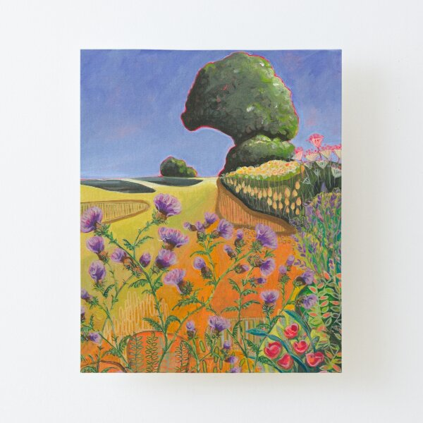 The Tree on the Hill Canvas Mounted Print