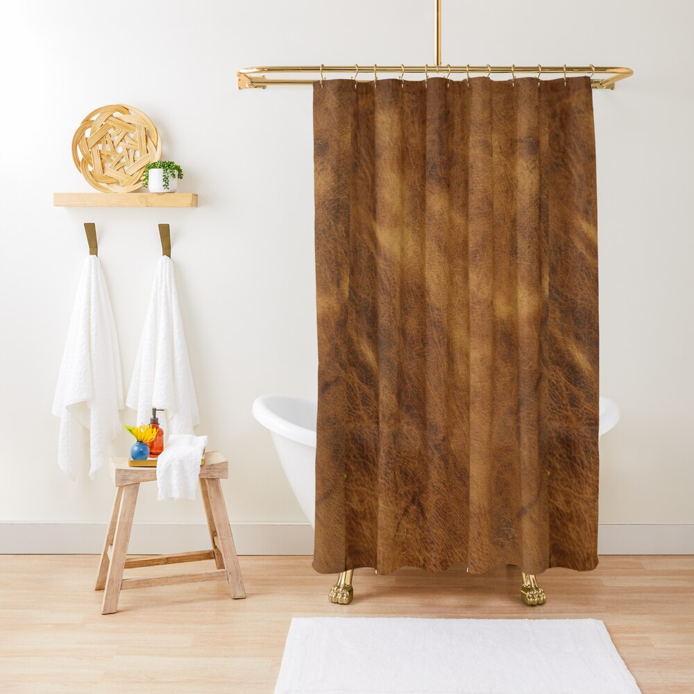 Leather Shower Curtain