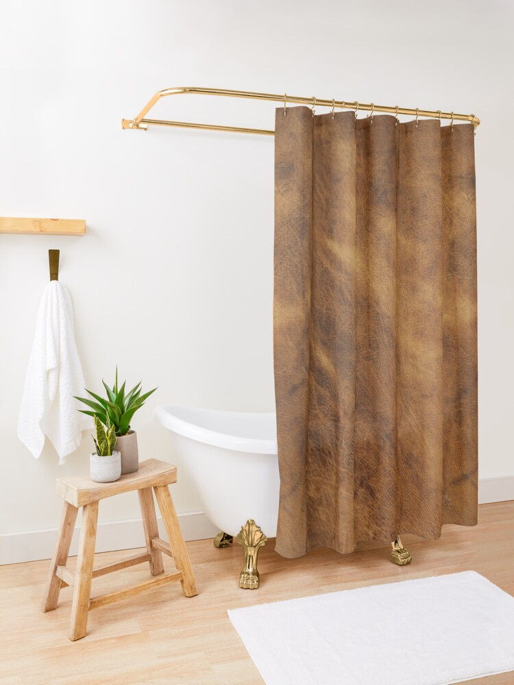 Alternate view of Leather Shower Curtain