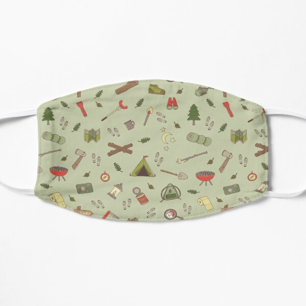 Outdoor Adventure Camping and Hiking Pattern Mask