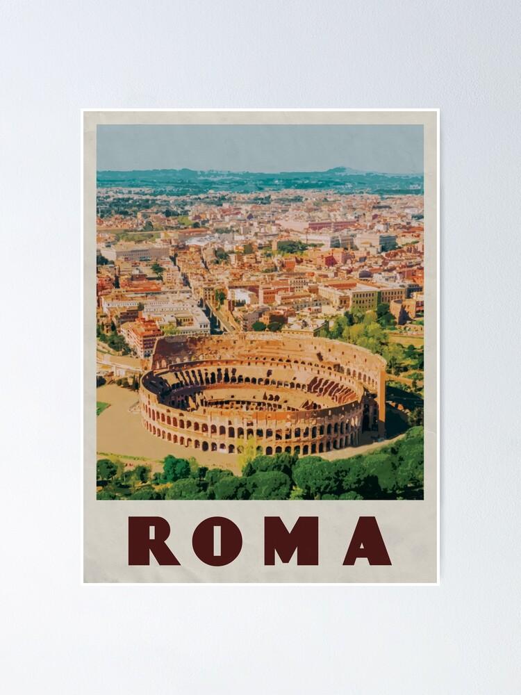 "Rome Vintage Travel Poster Art Print 12x16/"" Rare Hot New A343"