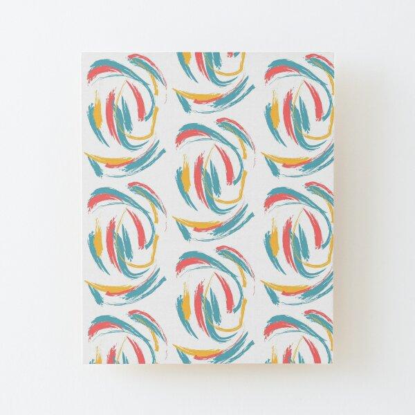 Patterned Tie Dye Wood Mounted Print