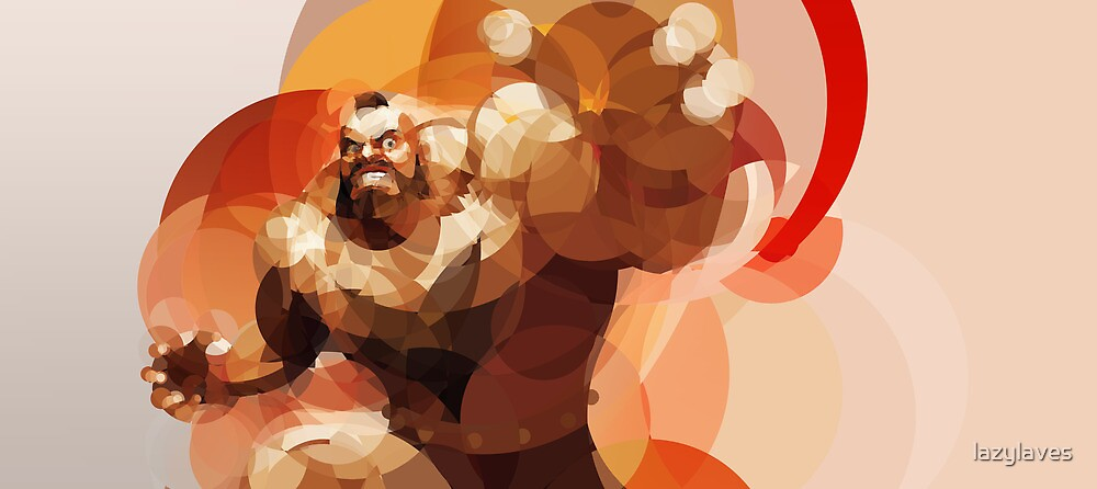 The Russian Wrestler by lazylaves