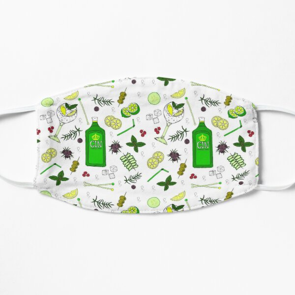 Gin and Tonic Pattern Gin o'Clock Cocktail Glasses Mask