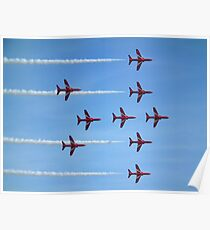 Red Arrows (Lancaster formation) Poster
