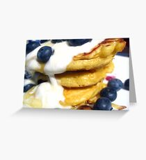 Pancakes & blueberries Greeting Card