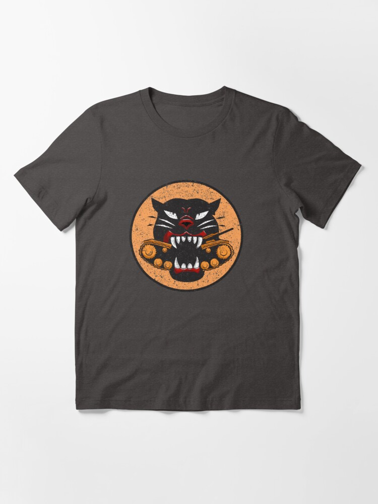 Alternate view of WW2 Tank Destroyer Division Panther Patch Distressed Gear Essential T-Shirt