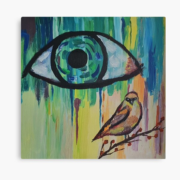 His Eye Is On The Sparrow Canvas Print