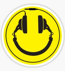 Headphones smiley wire plug Sticker