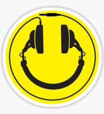 Headphones smiley wire plug Sticker