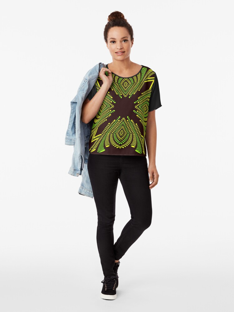 Alternate view of Luxury Decoration (Color) Chiffon Top