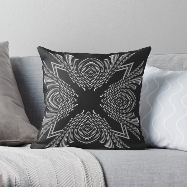 Luxury Decoration (BW) Throw Pillow