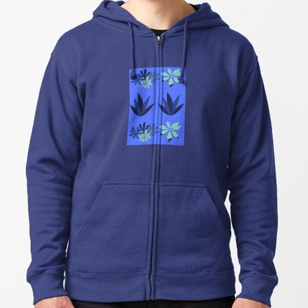 surfboard Sea Weed Design Zipped Hoodie