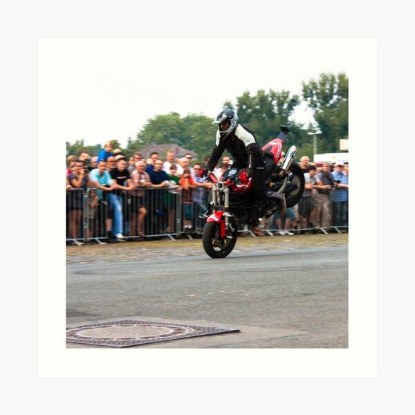 motorcycle stunt 001 Art Print