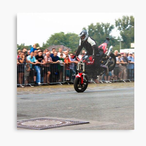motorcycle stunt 001 Metal Print