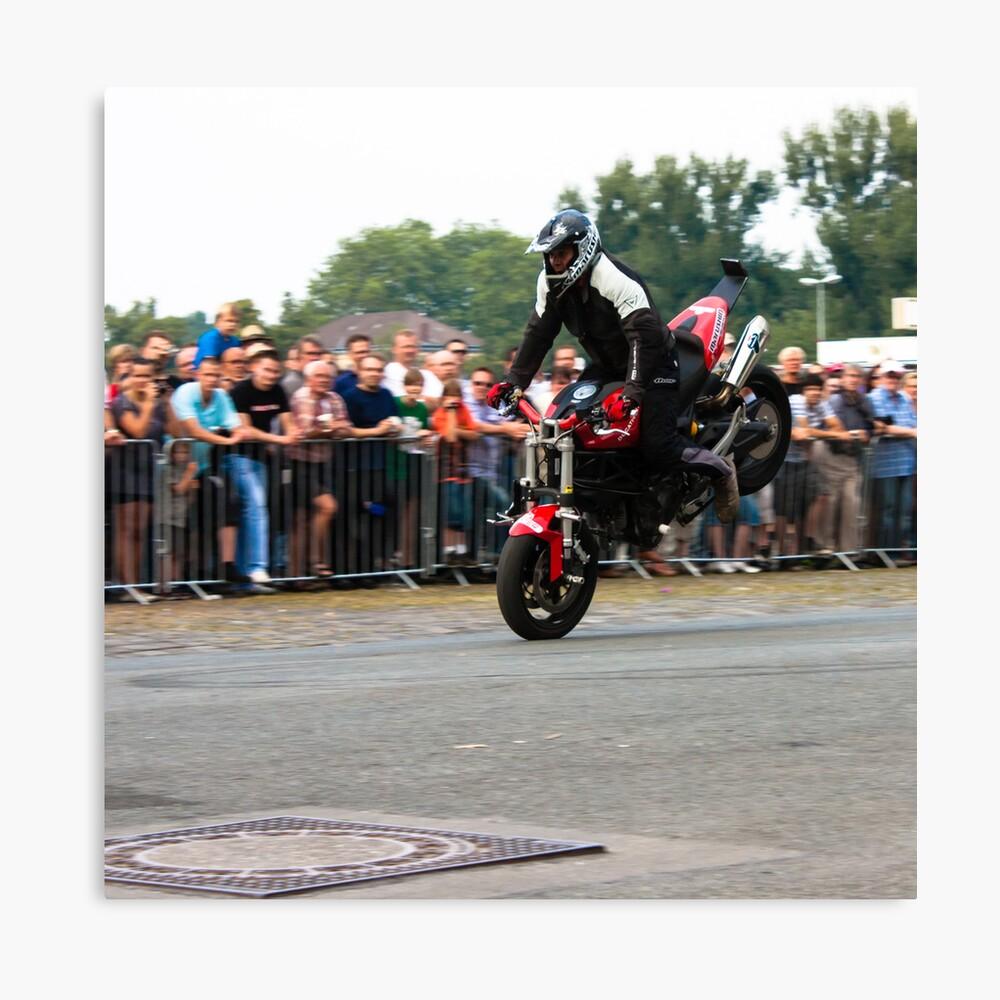 motorcycle stunt 001 Canvas Print